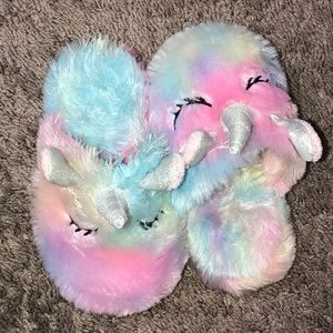 Other - Rainbow Unicorn toddler slippers
